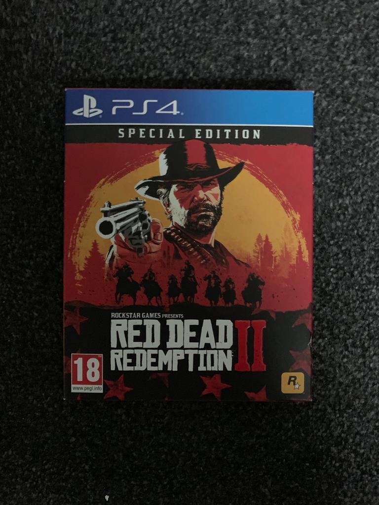 Ps4 Red Dead Redemption 2 Special Edition Codes Included In New
