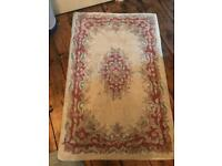 4 small Chinese rugs
