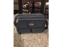 Navy blue compass bag lots of compartments travel bag sport