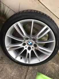 BMW 18 alloys wheel with tyres