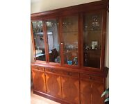 Sideboard with separate illuminated display cabinet