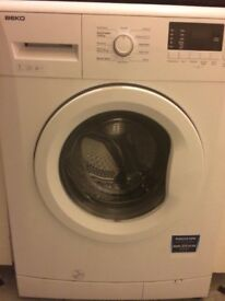 White 7KG BEKO washing machine 1 years old in immaculate condition.