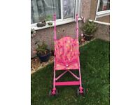 Lovely pink mothercare jive pushchair