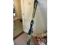 Rossignol skis and excellent 120 axial bindings