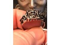 Punk skull ring size 12 U.K. Y