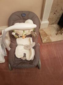 Chicco Bouncer with toys and internal padding for comfort