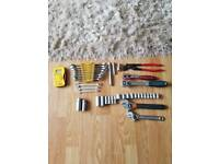 Job lot of tools and tool box, gedore, teng not snap on
