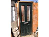 Composite door and frame