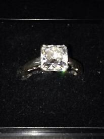 Large Stone Diamonique Ring