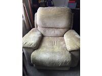Electric reclining armchair/sofa.
