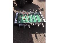 Table top football table