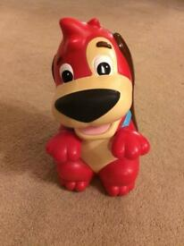 Red rover dog toy