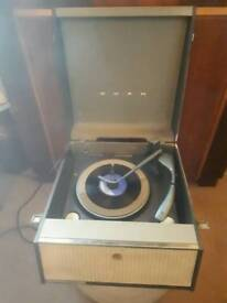 Vintage bush srp31d portable automatic valve record player turntable 1960's