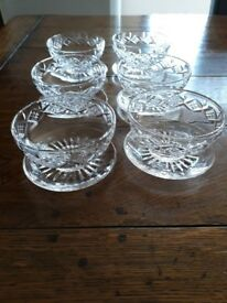 For sale. Crystal sundae dishes.