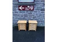 Solid oak bedside chest * free furniture delivery*
