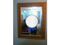 Two stunning antique mirrors, one antique mirror frame