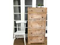 Tallboy/Chest of Drawers Free Delivery Ldn reclaimed wood shabby chic