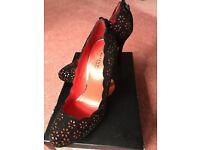 New Karen Millen Black and Red suede shoes