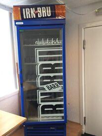 Irn Bru fridge, excellent condition...Cans & bottles only.