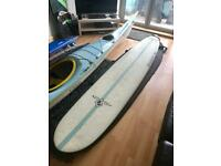 "Beachbeat 9' 2"" Longboard with leash and board bag"