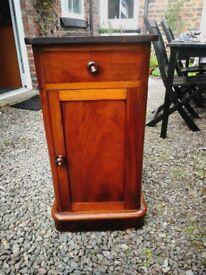vintage french dark hardwood cupboard / bedside table shabby chique