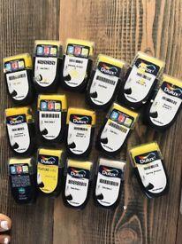 Dulux paint yellow paint samples