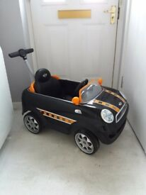 Kids mini cooper car push and ride