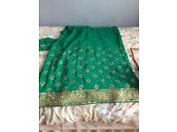 Green new saree