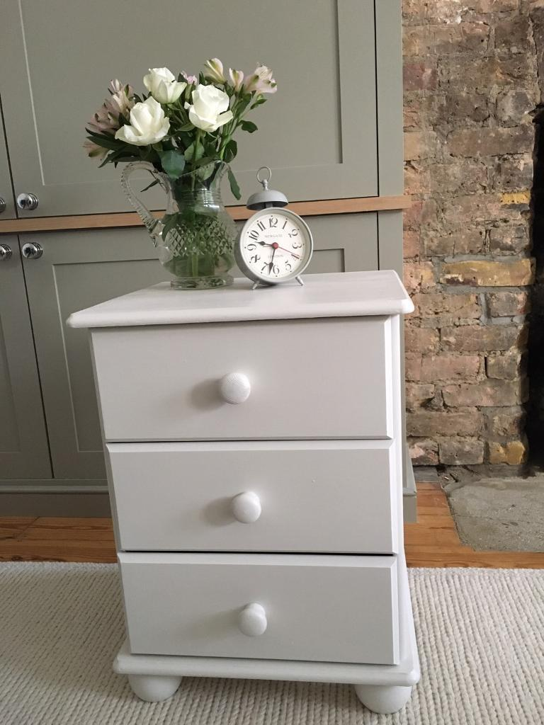 Bedside table painted in Farrow & Ball