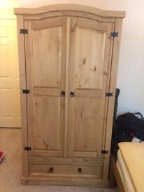 Corona Mexican Pine Light Wax Wardrobe