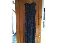 Long evening dress Size 12 dark blue, sequins