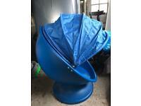 Kids Blue egg-shaped swivelling chair - Ikea