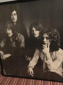 Huge Framed Led Zeppelin Poster