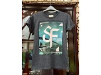 Men's Burton grey speckle T-shirt, size small