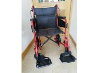 Folding wheelchair as new