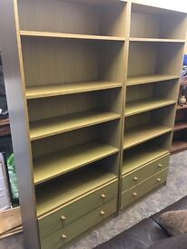 SOLID WOODEN DISPLAY CABINETS SET OF 2 in EXCELLENT SHAPE
