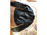 Imitation leather jacket