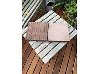 120 Terracotta Quarry Tiles 9 x 9 x 1 inch plus assorted cut tiles, previously used for garden patio
