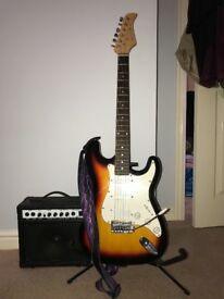 Electric guitar with 15W amplifier