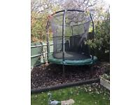 Jumping oval trampoline 8x 11.5 ft with ROOF cover