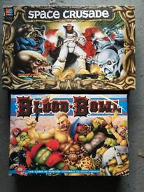 Space crusade and blood bowl board games vintage war hammer