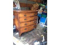 1930 veneer chest of drawers