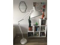 Large white anglepoise lamp for sale - COLLECTION ONLY