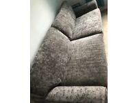 3 & 4 Seater Grey Sofa in Immaculate Condition