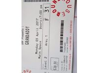 1x Grandaddy face value seated ticket at The Roundhouse