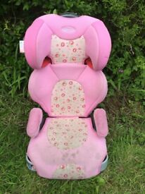 Graco Child Car Seat 15-36kg - pretty pink flower design