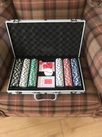 Brand new poker set never used in excellent condition.