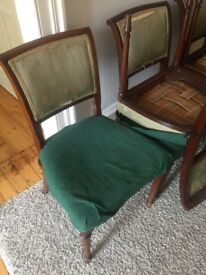Antique dining table extendable 6 chairs