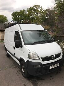 Vauxhall movano van MWB 2005 roof rack also racked out inside