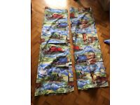 Thomas the tank engine curtains, lamp shade and two single duvet covers